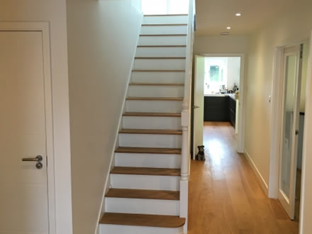 Hardwood Cladded Treds for Staircase
