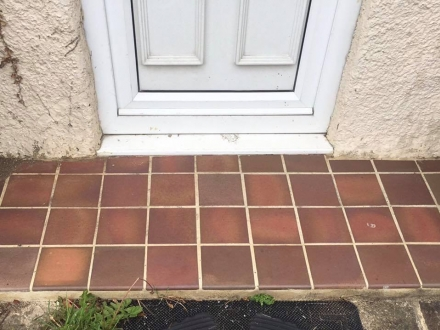 Quarry tiles on porch