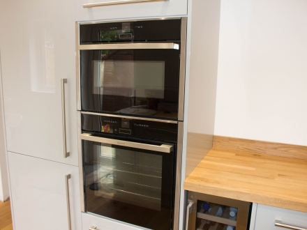 Hide & Slide Oven, with Combi Oven and Integrated Fridgefreezer
