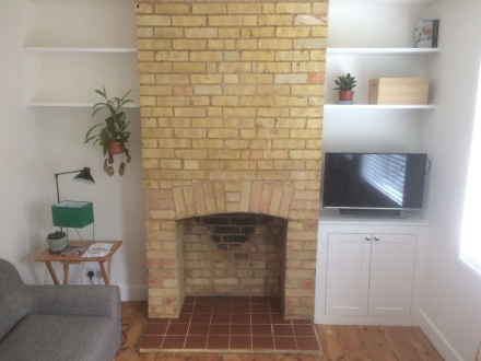 Refurbished Chimney Breast and New Quarry Tile Hearth