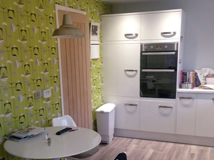 Gloss Bloc Kitchen & Oak Door